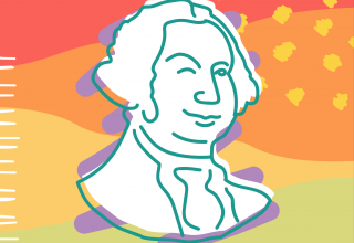 Illustrated image of George Washington