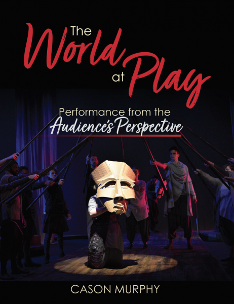 Book cover with theatre performers on stage